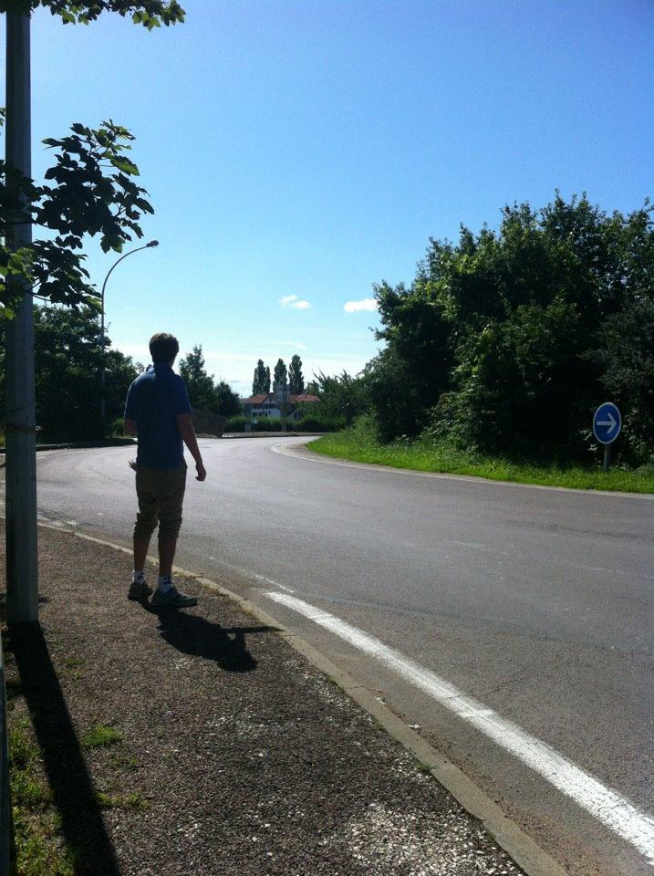 Hitchhiked to Paris