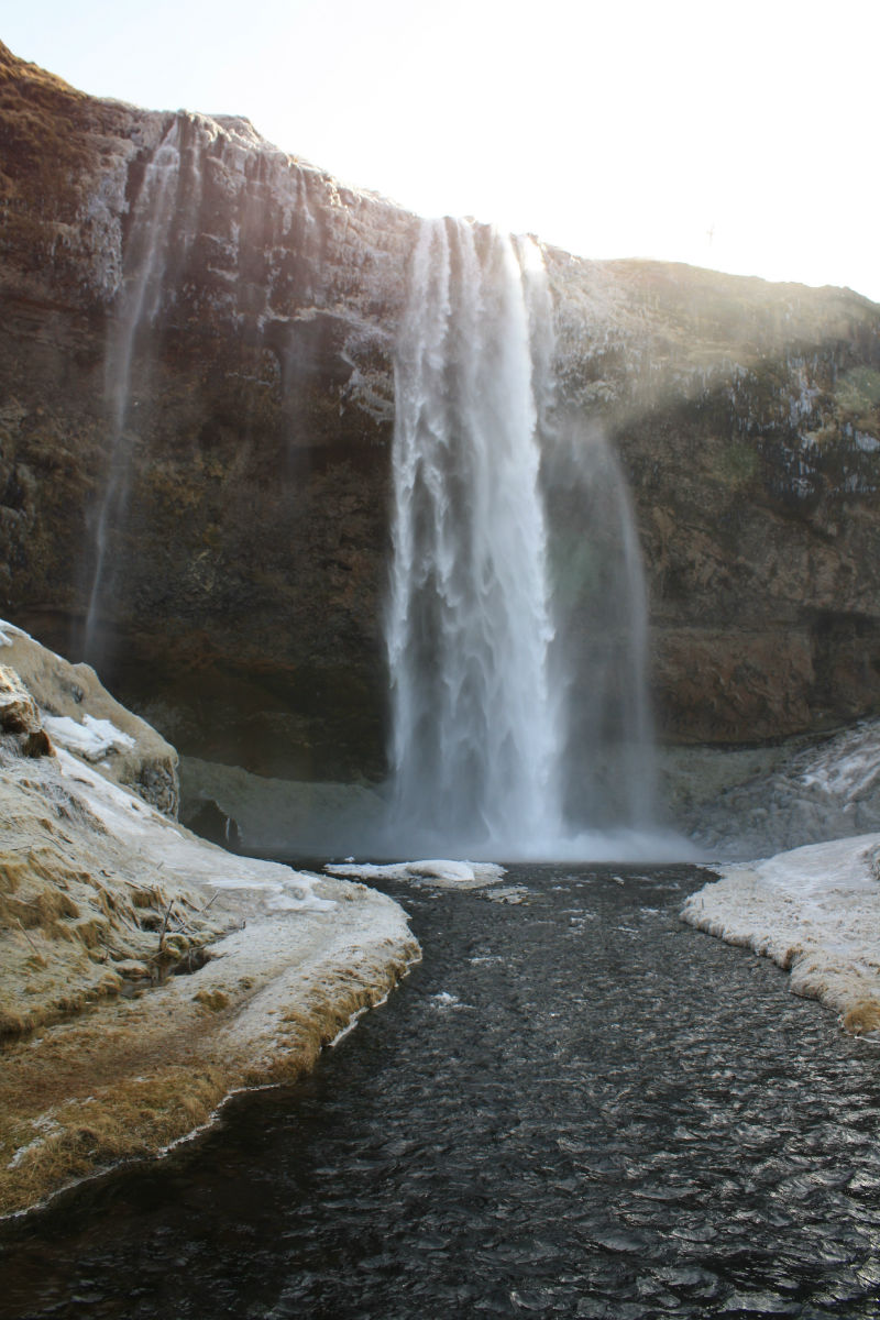 Seljalandsfoss Waterfall and the Icelandic Hermit Cave of Gljufrabui