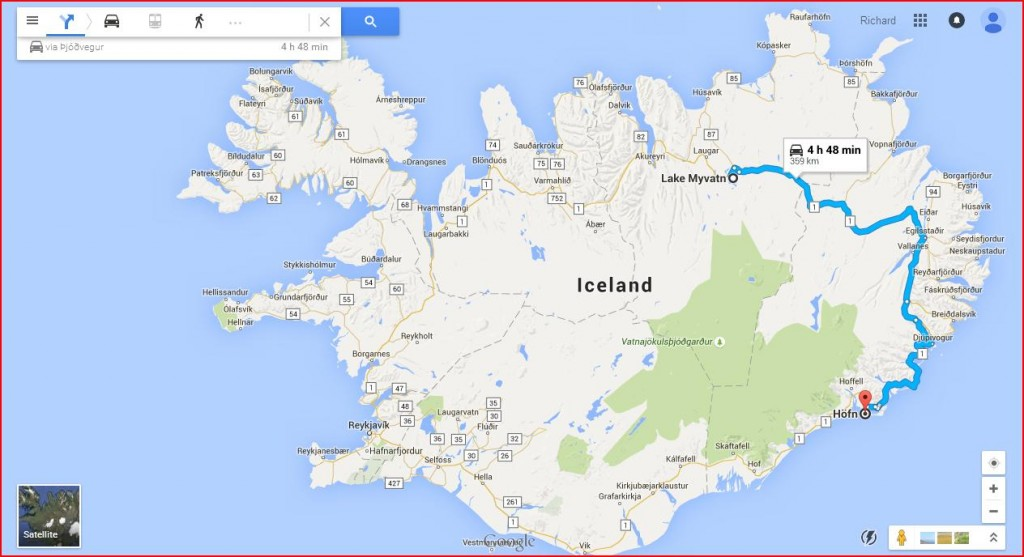 From Hofn to Myvatn