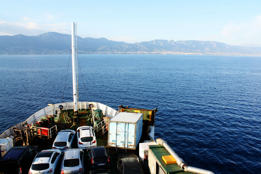 Travel on the ferry from Turkey to Northern Cyprus