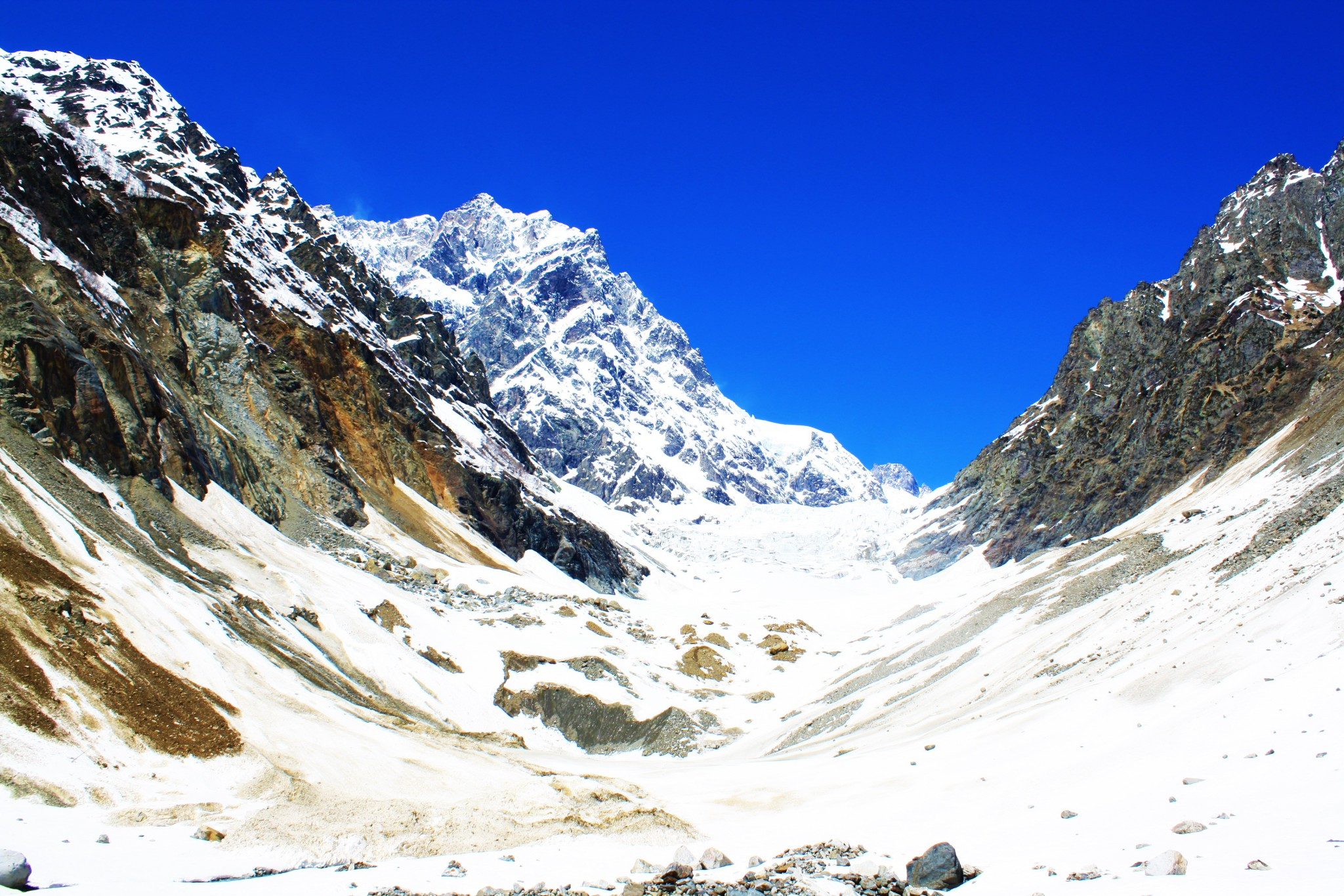 The hike to Chaladi Glacier Svaneti Georgia