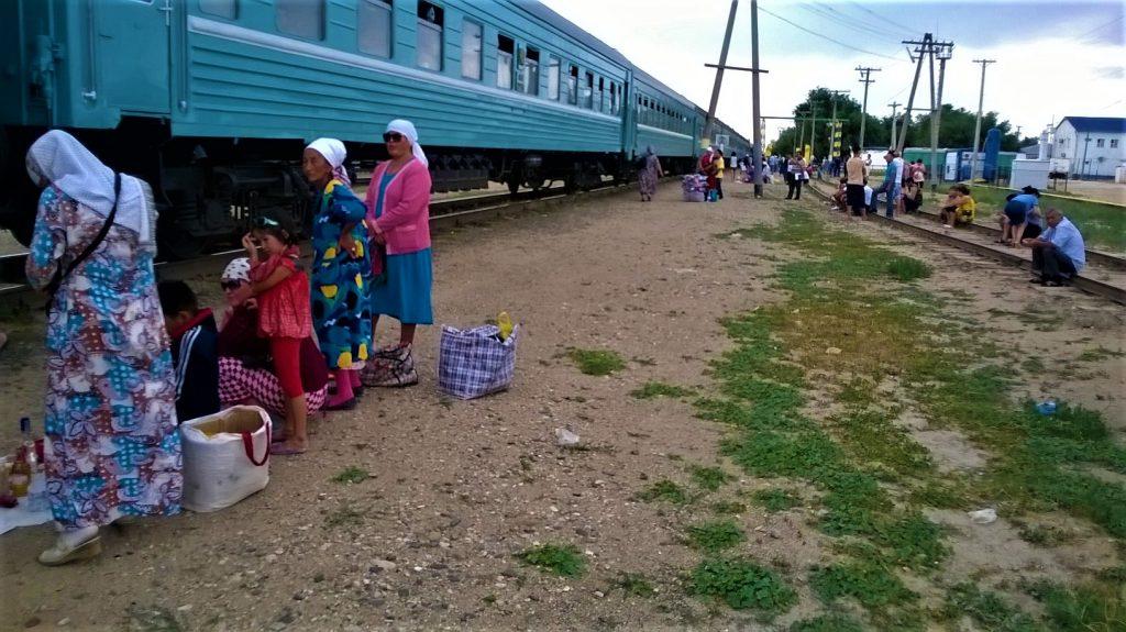Train Aktau Kazakhstan to Kungrad Uzbekistan