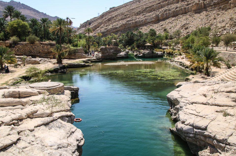 Swimming At Wadi Bani Khalid, An Oasis In The Desert Of Oman
