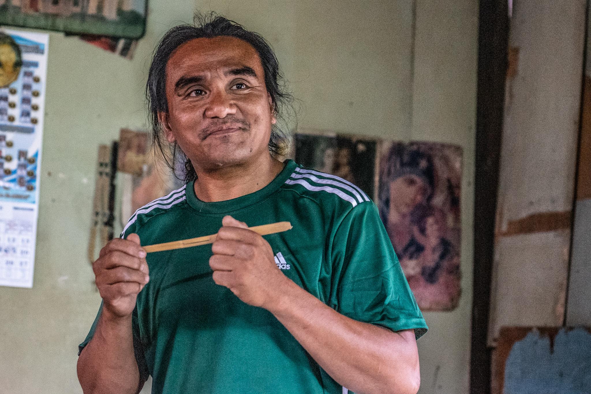 Elmer Tadeo Bamboo Musician Malibcong Abra